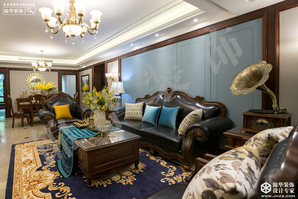美式风格-保利鑫城-四室两厅-170㎡-装修实景效果图