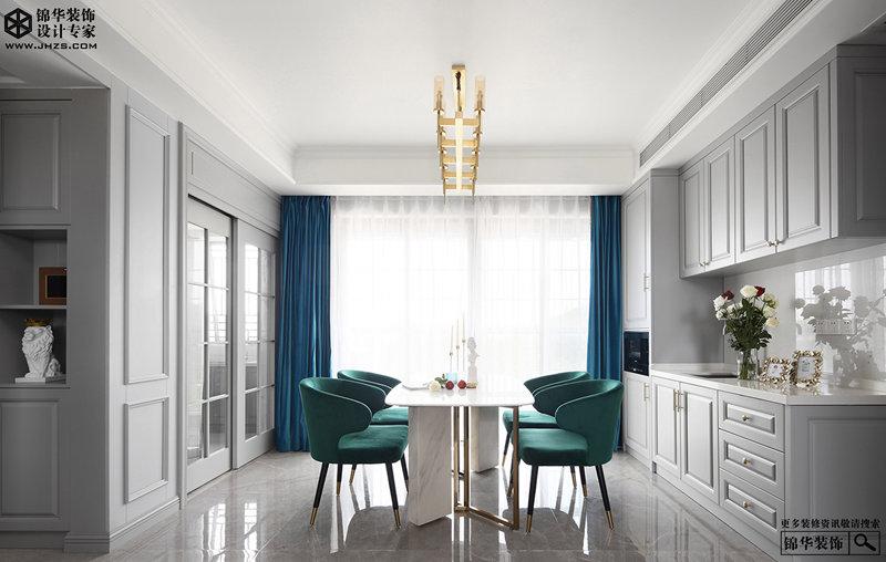 美式风格-财富春天-三室两厅-145㎡装修-三室两厅-简美