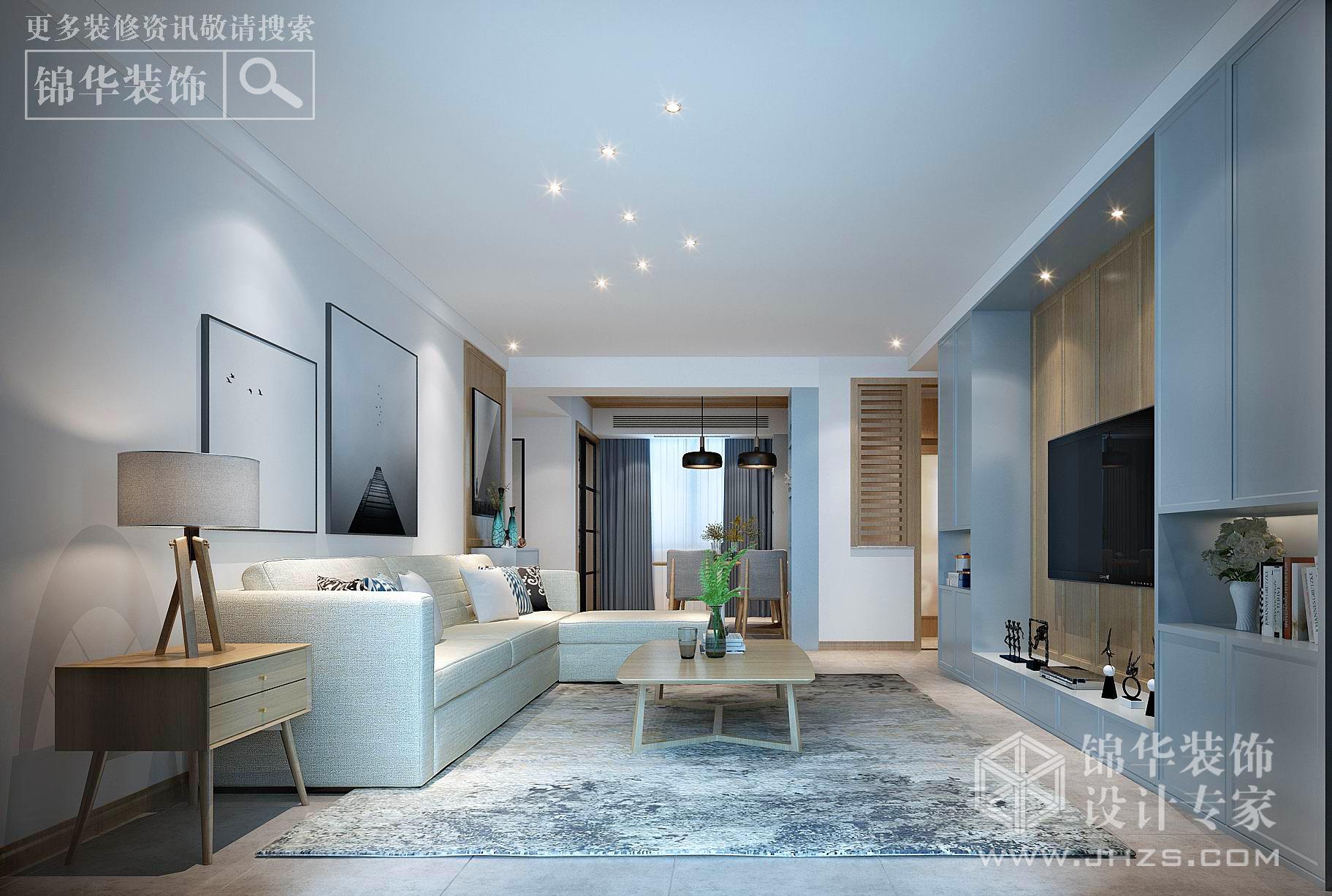 现代风格-翠湖御景-三室两厅-142㎡