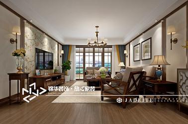 美式风格-国基城邦-四室两厅两卫-170㎡