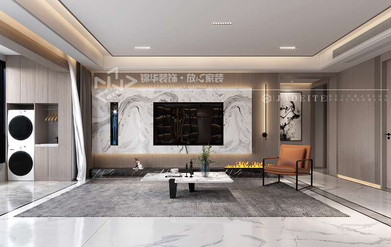 现代简约-蓝城蘭园-三室两厅两卫-200㎡装修-三室两厅-现代简约