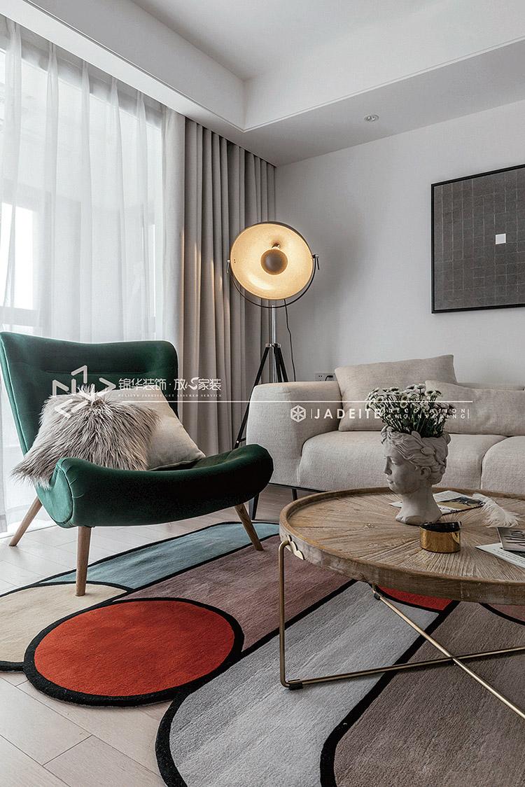 如秋-现代风格-中锐星尚城-130㎡装修-三室一厅-现代简约