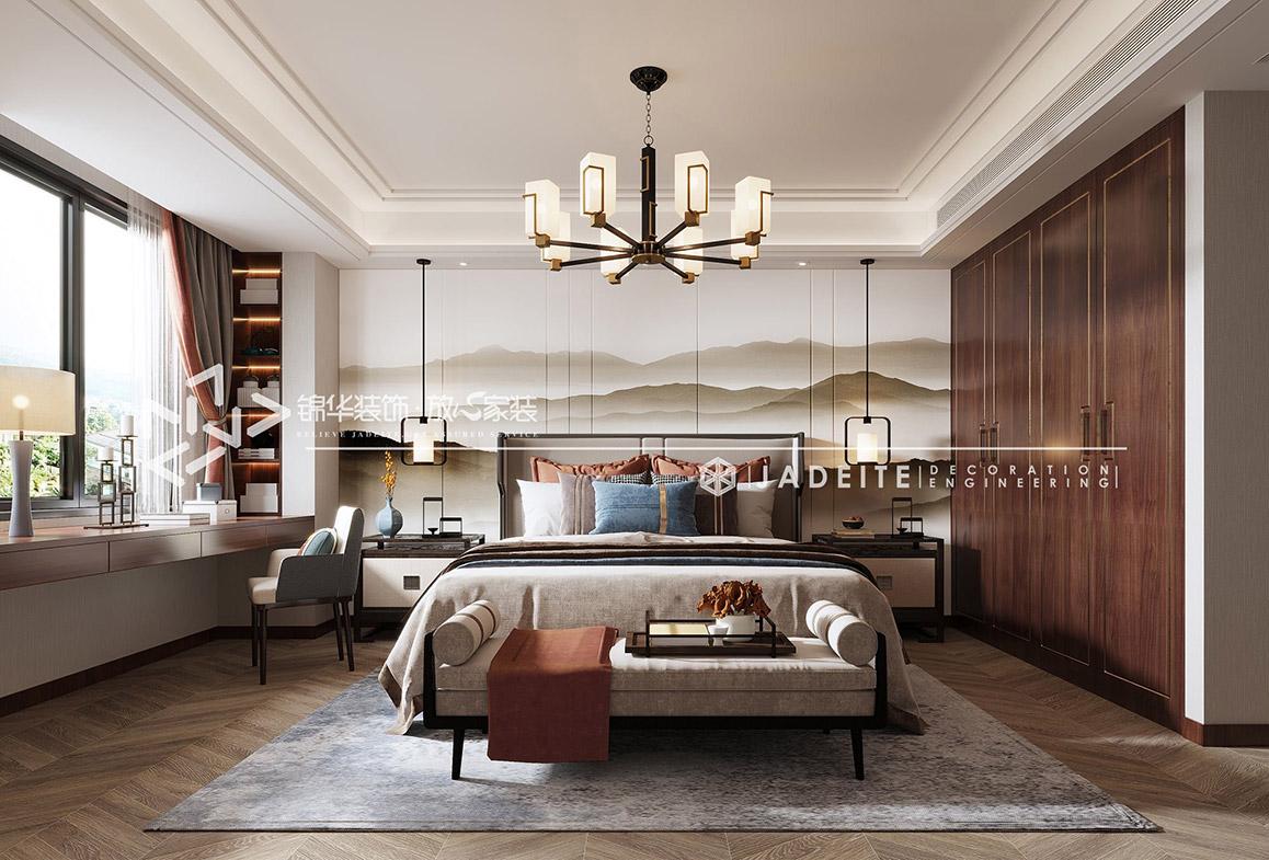 新中式-风尚米兰196㎡一餐一饭、一花一茶装修-四室两厅-新中式