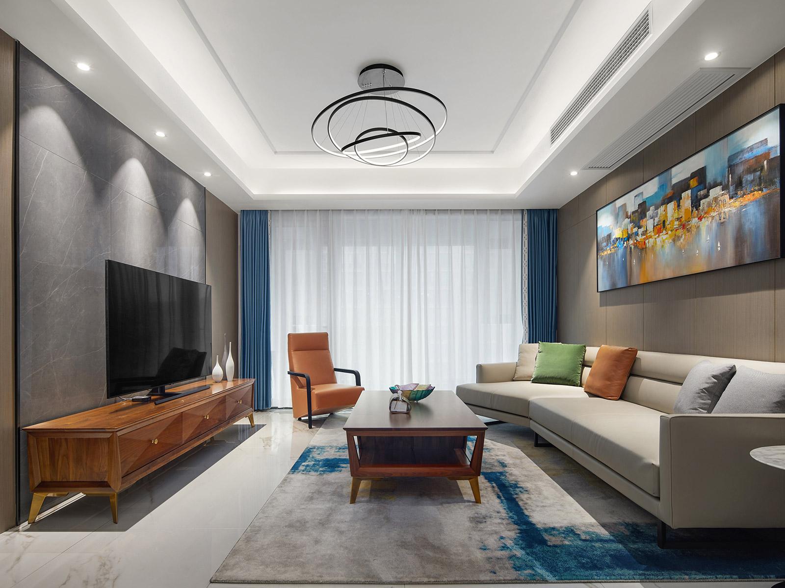 现代风格-玉兰花园-三室两厅-145㎡