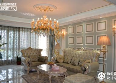 欧式清新-钱江方洲-三室两厅-140㎡装修实景效果图