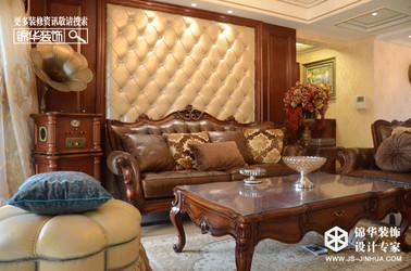 欧式古典-钱江方洲-三室两厅-140㎡装修实景效果图
