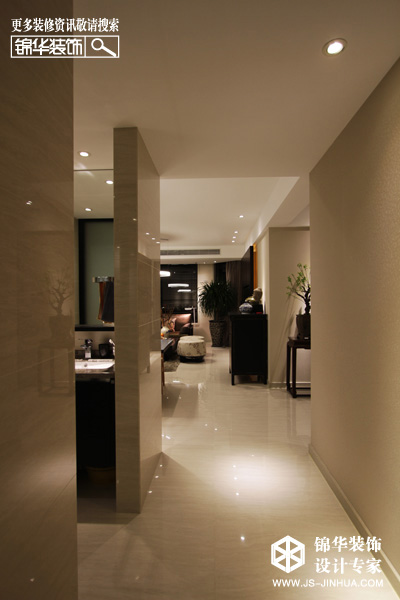 香城美地--自然主义装修-三室两厅-新古典