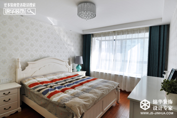 高教公寓--纯净空间装修-两室一厅-地中海