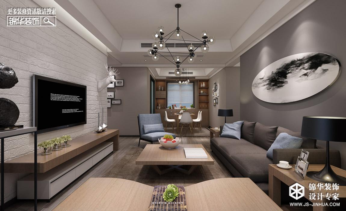 中庚·海德公园后现代高级灰装修-三室两厅-混搭