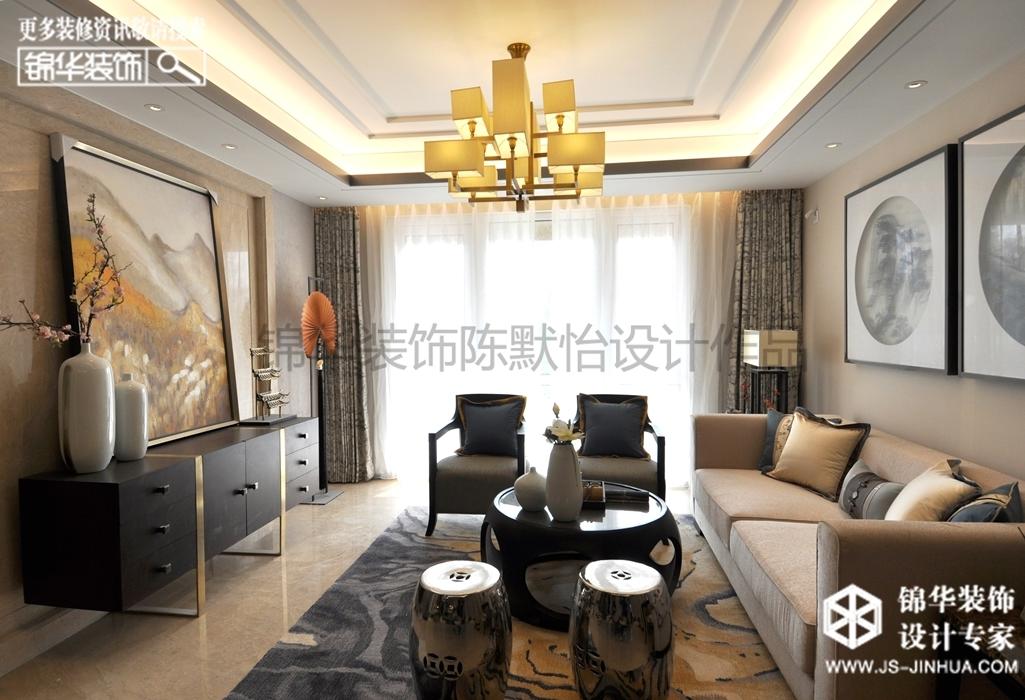 中海独栋别墅--墨韵装修-三室一厅-新中式