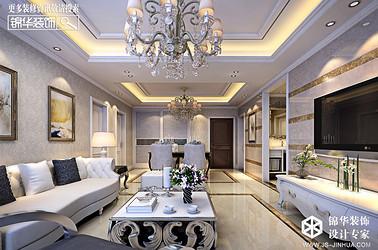 简欧风格-明悦景庭-两室一厅-106㎡装修实景效果图