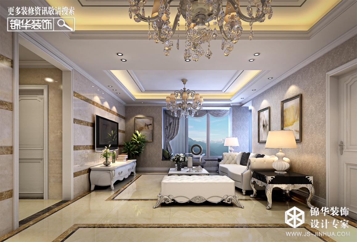 明悦景庭--简欧风格-106㎡装修-两室一厅-简欧