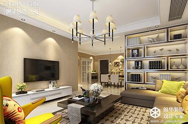 现代简约-凤鸣缇香-两室一厅-90㎡装修实景效果图