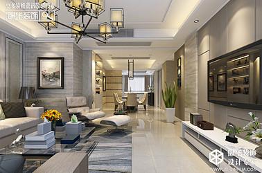 现代简约-香城美地-三室一厅-124㎡装修实景效果图