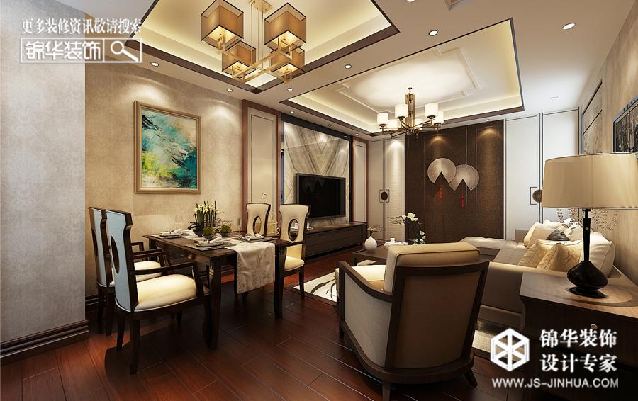 凤鸣缇香--金玉满堂装修-三室两厅-新中式