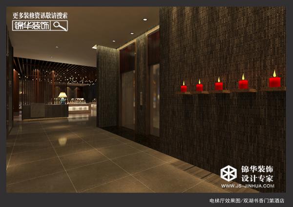 电梯厅效果图-书香门第装修 大户型 现代简约 盐城锦华装饰