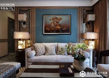 东南亚风格-金色果缘-三室两厅-140㎡装修实景效果图