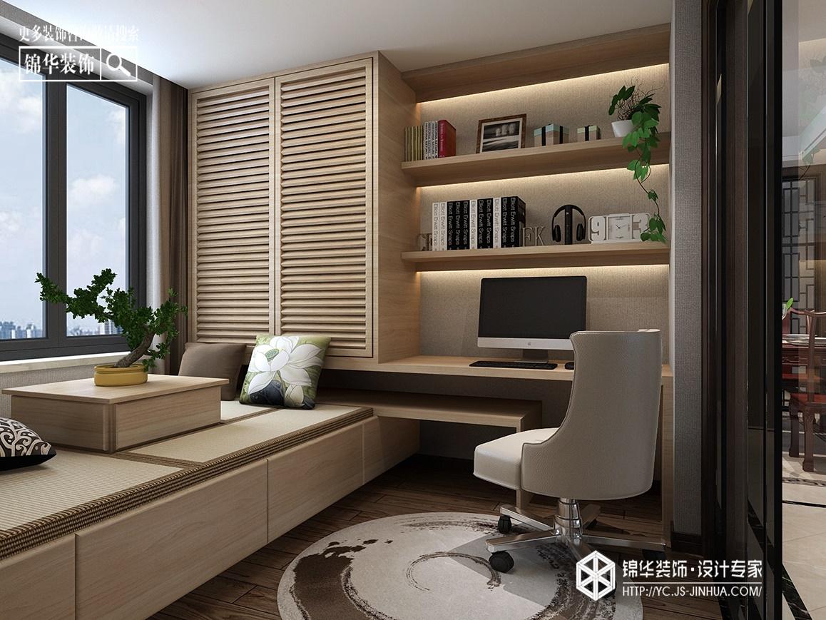 新中式-华强城-三室两厅-120㎡装修实景效果图装修-三室两厅-新中式