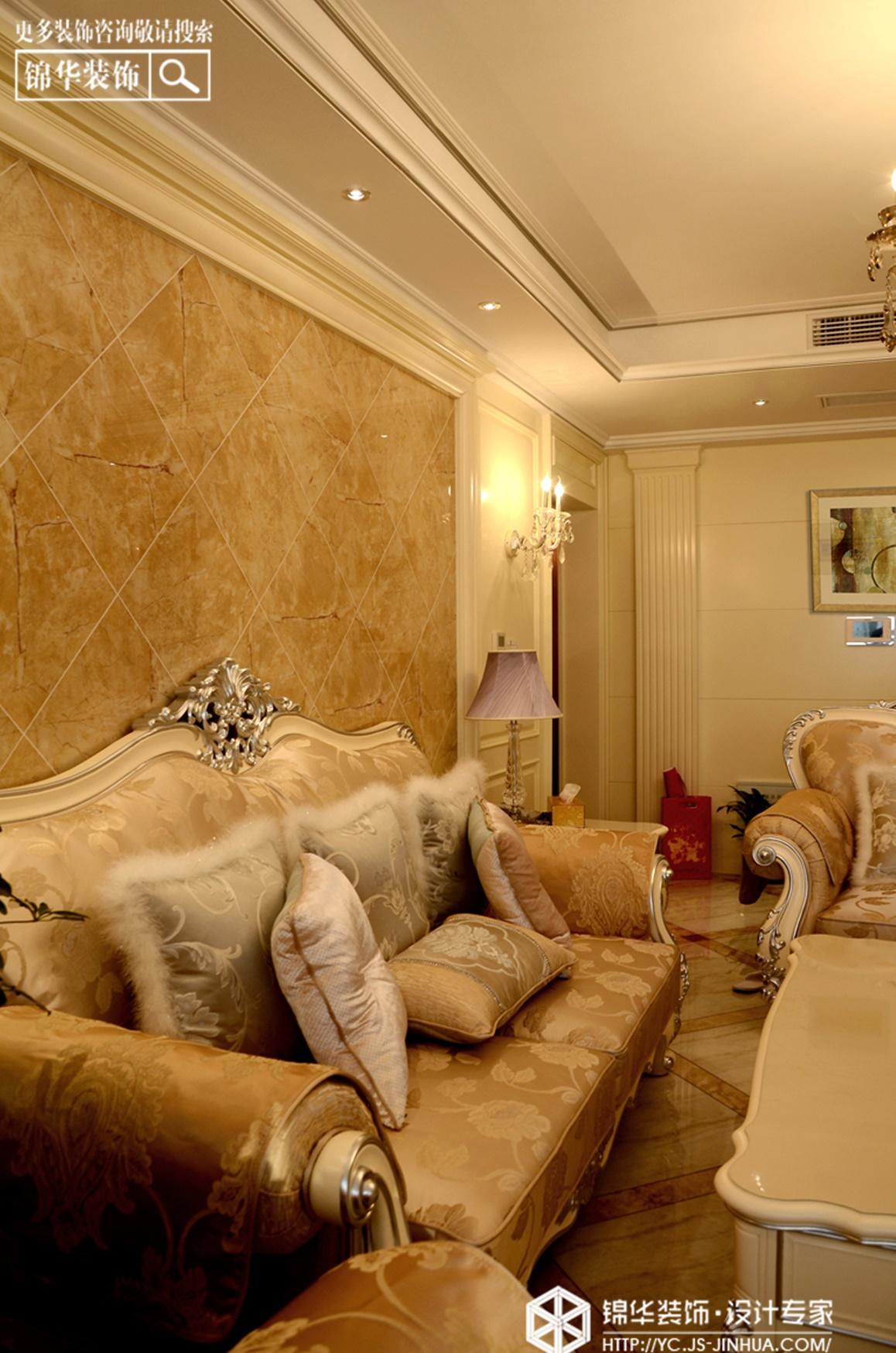 宝龙城市广场---辉煌人生装修-三室两厅-简欧