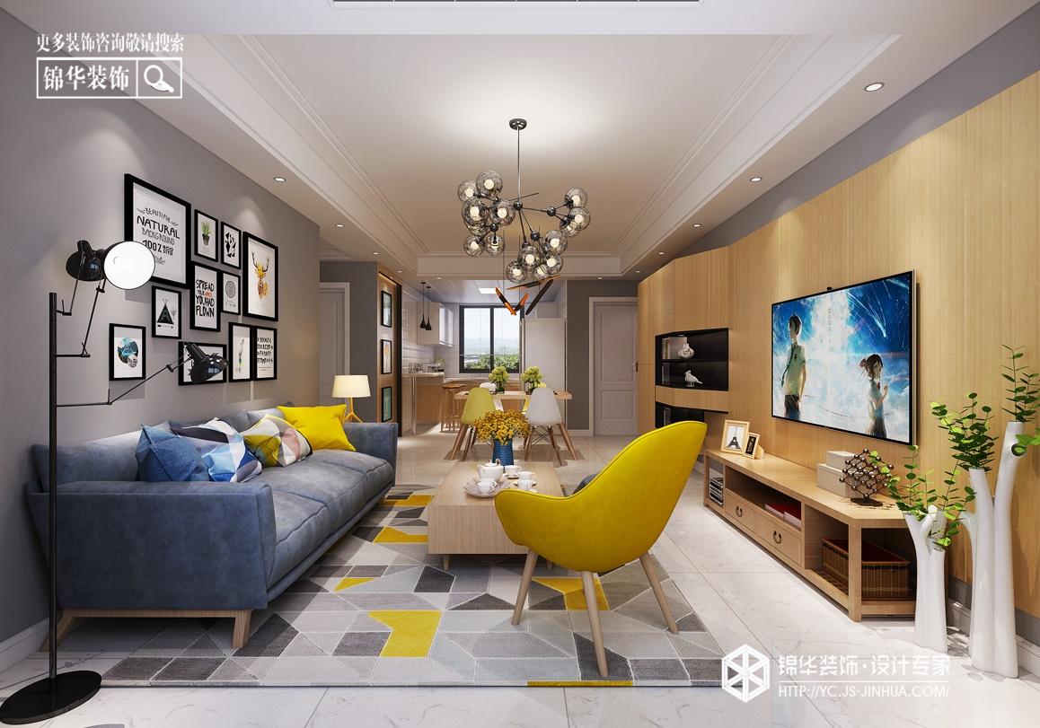 极简原木-现代简约-中南世纪城-三室两厅-108㎡装修实景效果图装修-三室两厅-现代简约