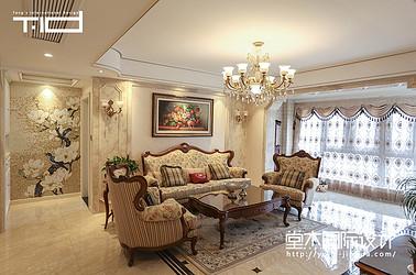 美式风格-钱江方州-平层-179㎡装修实景效果图