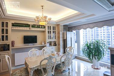 简欧风格-橡树湾-三室两厅-142㎡装修实景效果图