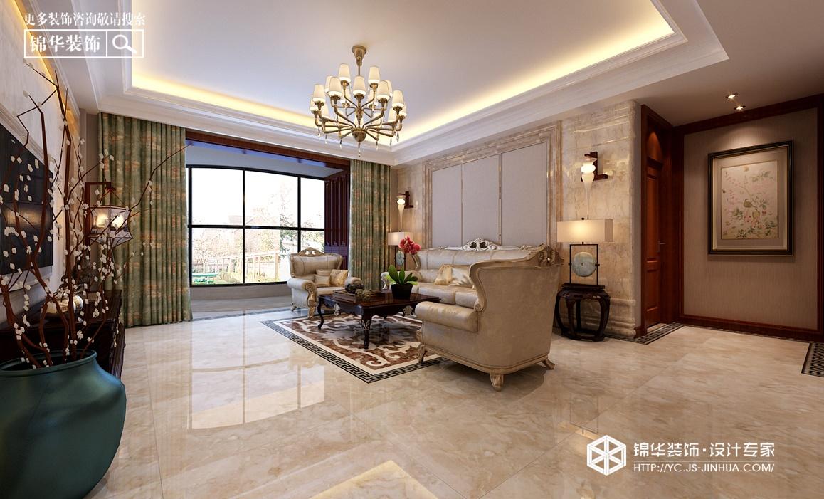 钱江方洲--贵雅装修-三室一厅-简欧