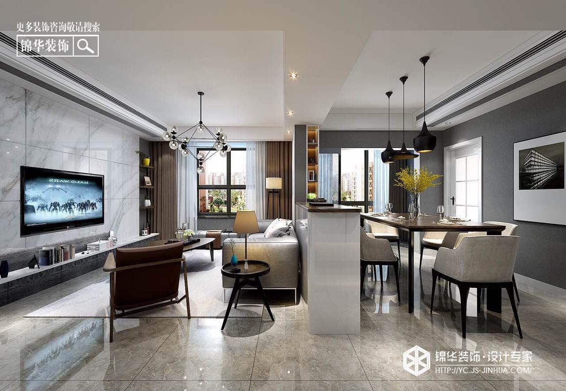 兴都公寓--现代装修-三室两厅-现代简约