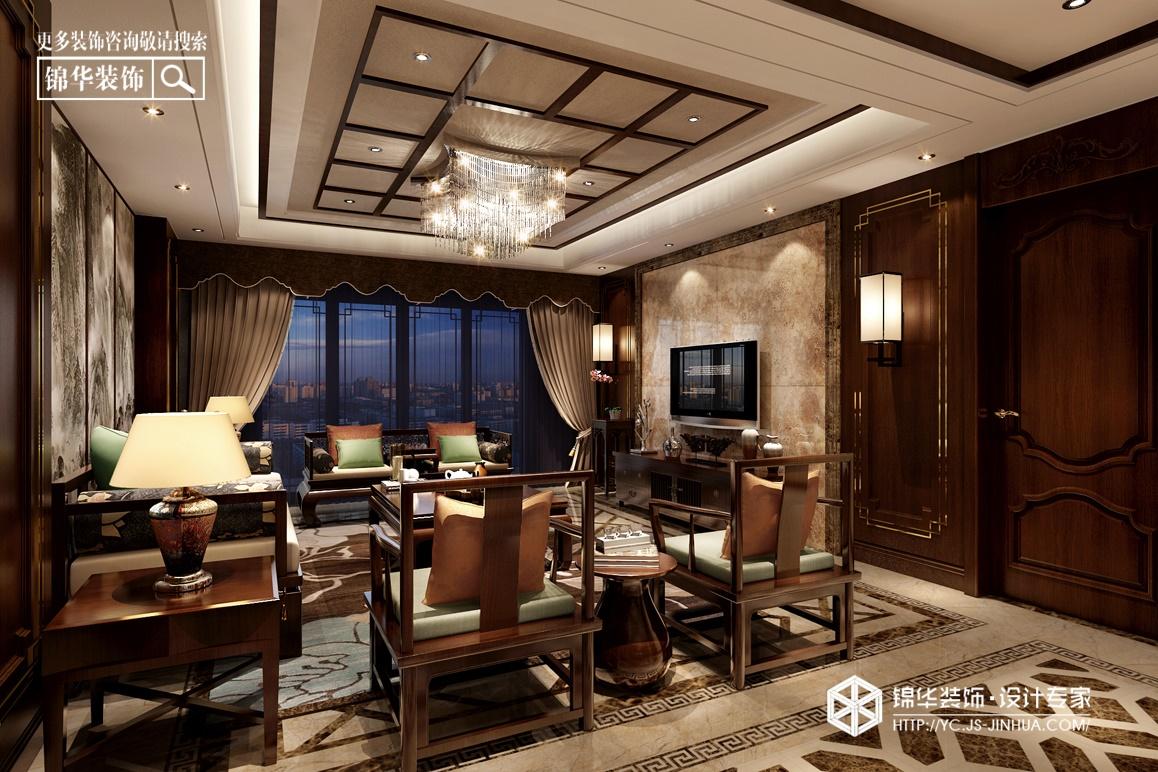 龙泊湾--归家装修-三室两厅-新中式