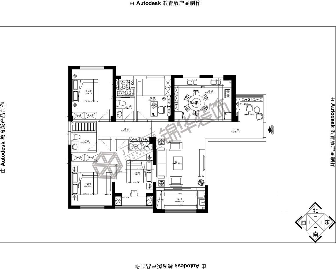 海德公园--典贵装修-三室两厅-简欧