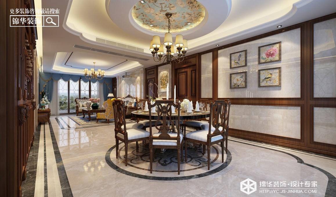 龙泊湾--美式风尚装修-三室两厅-美式田园