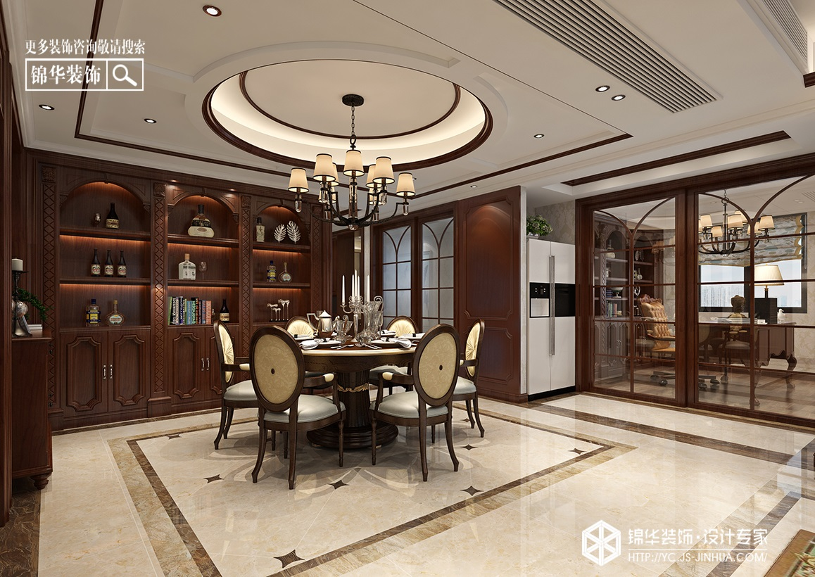 美式风格-响水·大湖富邦-三室两厅-126㎡装修实景效果图装修-三室两厅-美式田园