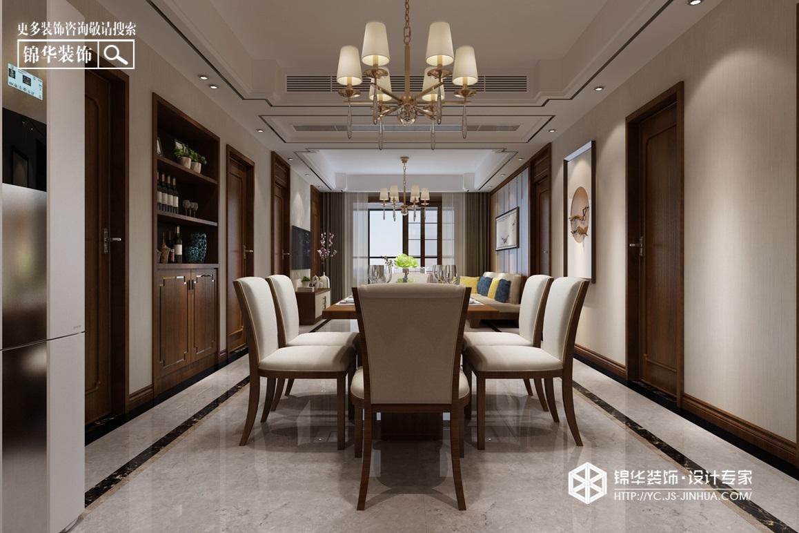 新中式风格-建湖·御景城-三室两厅-128㎡装修实景效果图装修-三室两厅-新中式