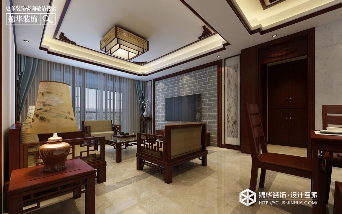 新中式风格-悦珑湾-三室两厅-130㎡装修实景效果图