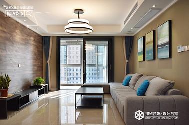 现代简约-凤鸣缇香-三室两厅-130㎡装修实景效果图