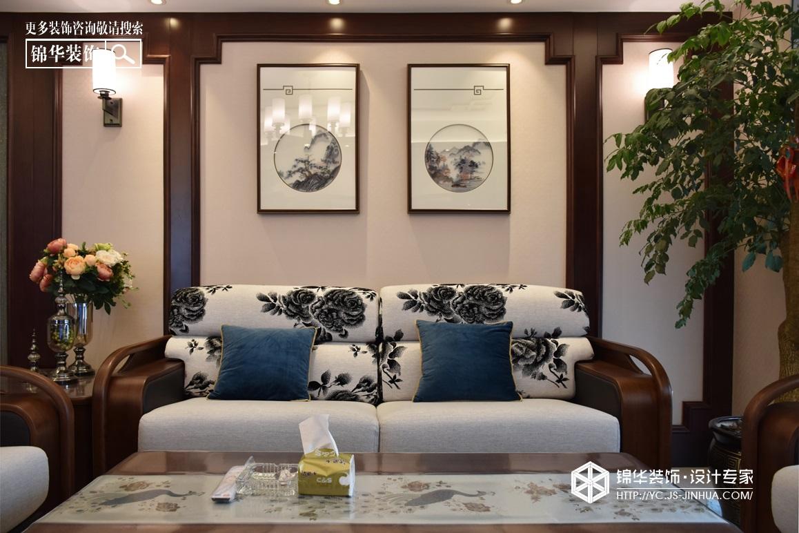新中式风格-香苑西园-平层-172㎡装修实景效果图