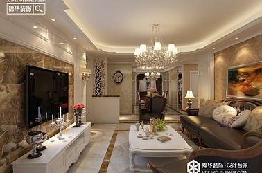 轻奢风格-凤凰汇-三室两厅-135㎡装修实景效果图