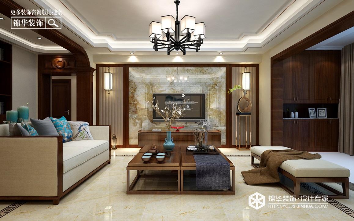 新中式风格-紫薇花园-三室两厅-140㎡装修实景效果图装修-四室两厅-新中式