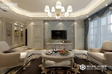 美式风格-申鑫名城三室两厅--120㎡装修实景效果图