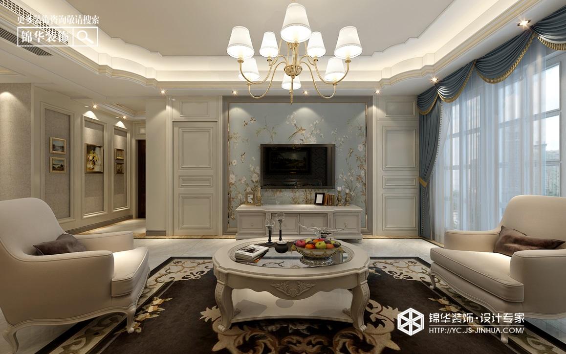 美式风格-申鑫名城三室两厅--120㎡装修实景效果图装修-三室两厅-简欧