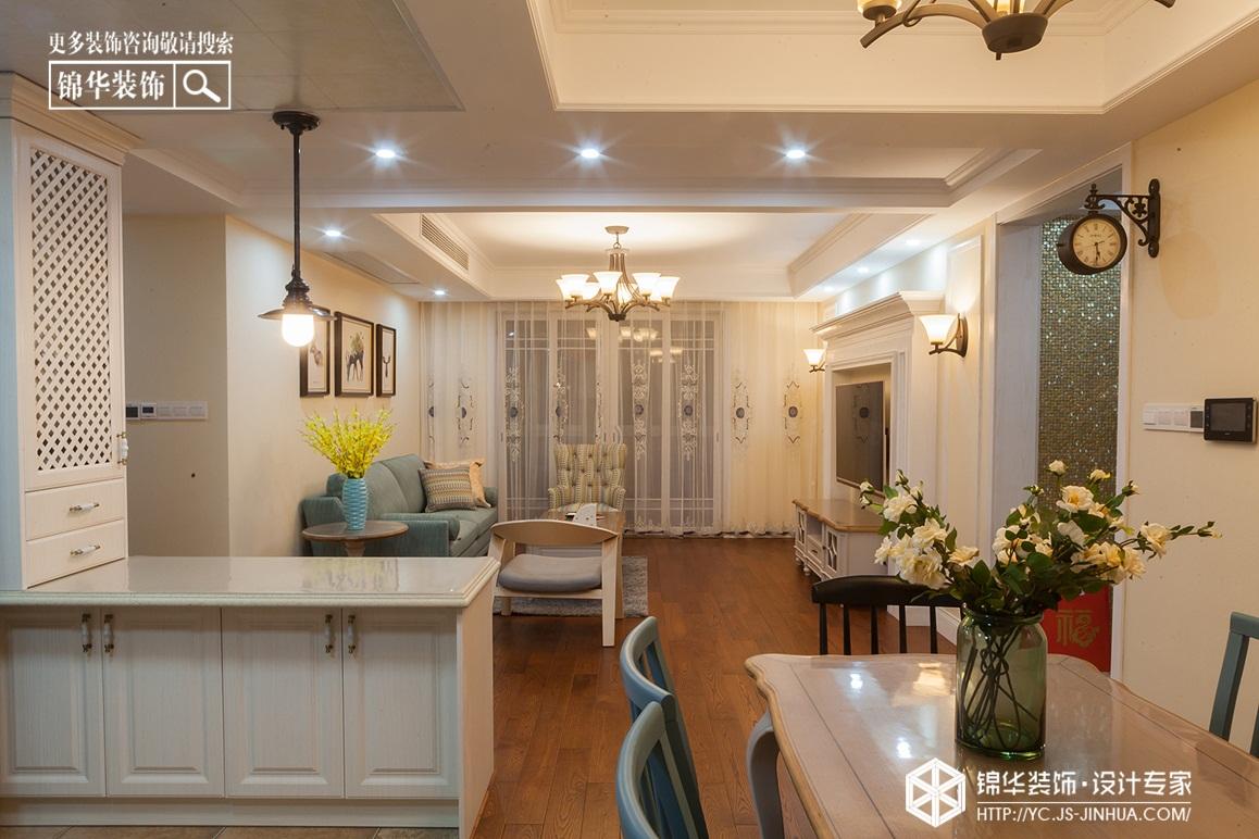 小美风格-凤鸣缇香-三室两厅-140㎡装修实景效果图装修-三室两厅-简美