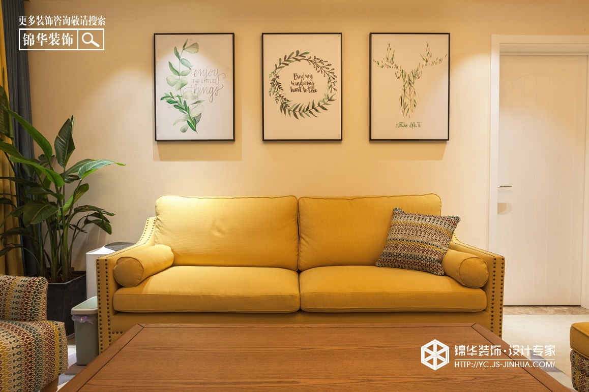 凤鸣缇香-小美风格-120㎡(实景)装修-三室两厅-简美