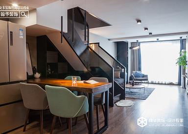 现代简约-香城美地-挑高公寓-60㎡装修实景效果图
