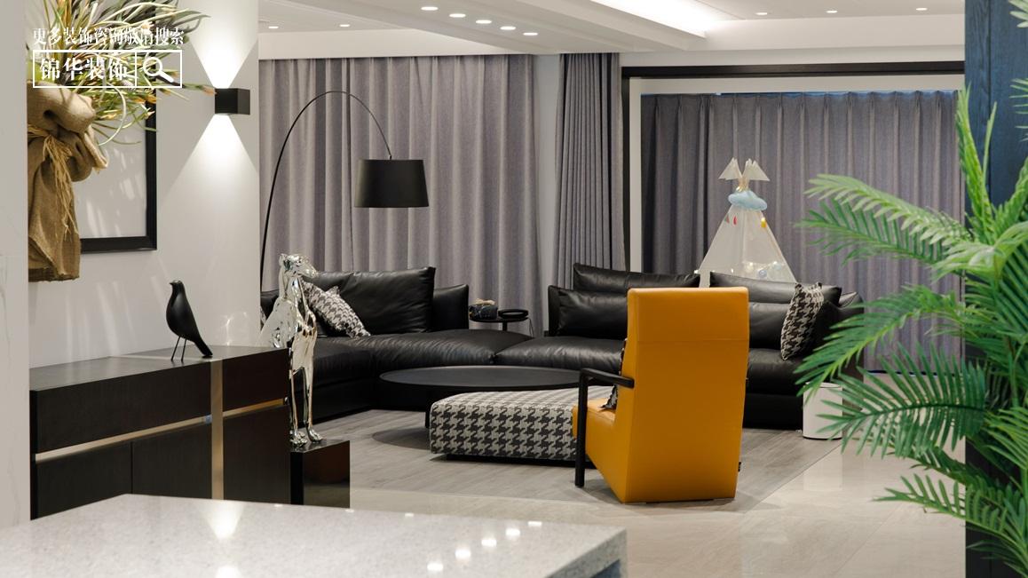 现代简约-橡树湾-平层-180㎡-装修实景效果图装修-大户型-现代简约