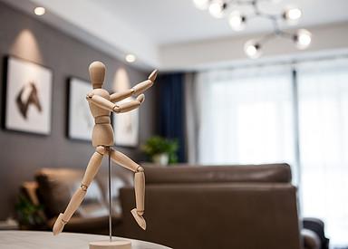 现代简约-幸福嘉园-挑高公寓-90㎡装修实景效果图