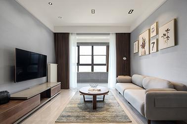 北欧风格-凤鸣缇香-三室两厅-105㎡装修实景效果图