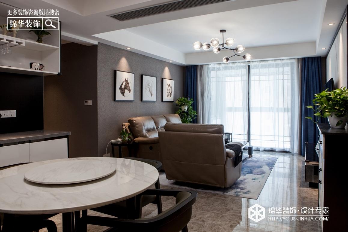 现代简约-幸福嘉园-挑高公寓-90㎡装修实景效果图装修-两室一厅-现代简约