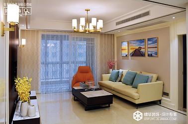 现代简约-金域华府-两室两厅-160㎡装修实景效果图