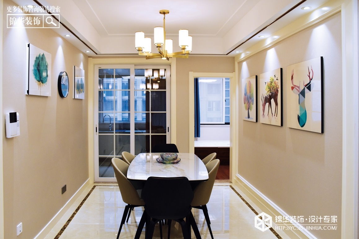 金域华府-现代简约-160㎡(实景)装修-两室两厅-现代简约
