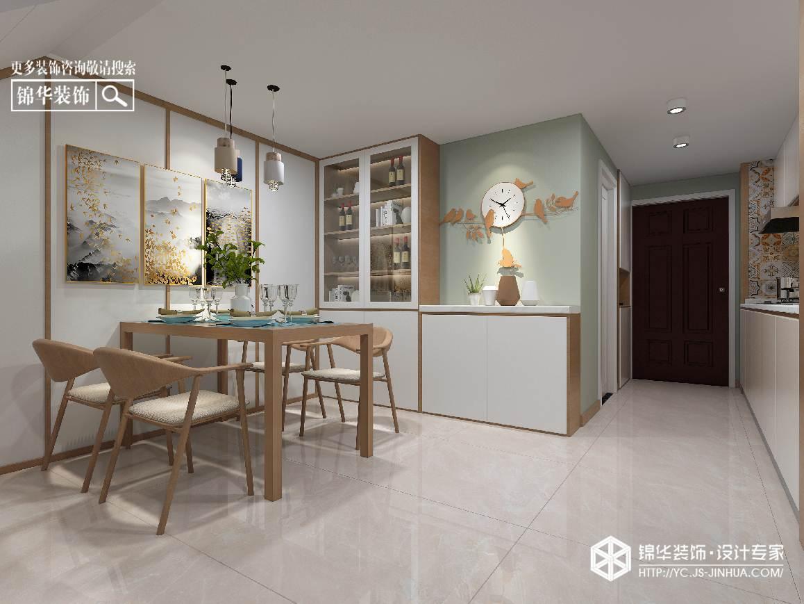 日式风格-绿地6m公馆-55㎡挑高装修实景效果图装修-三室两厅-日式
